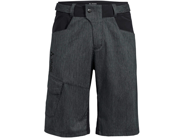 VAUDE Tremalzo Stripes Shorts Hombre, negro